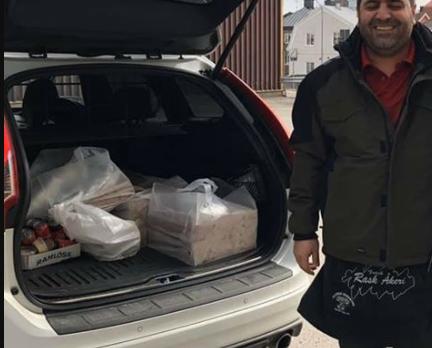 İsveç'te sağlık çalışanlarına pizza ikram eden Cihanbeyli'li!